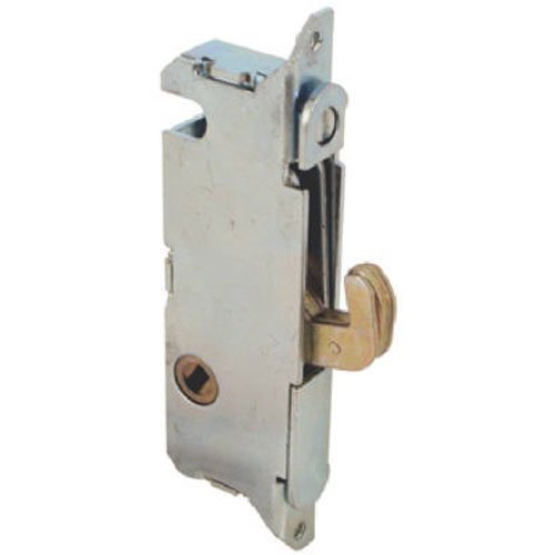 "Slide-Co 15410-F Mortise Lock - Adjustable, Spring-Loaded Hook Latch Projection for Sliding Patio Doors Constructed of Wood, Aluminum and Vinyl, 3-11/16"", 45 Degree Keyway, Round Face (Patio Stores Furniture In Arizona)"