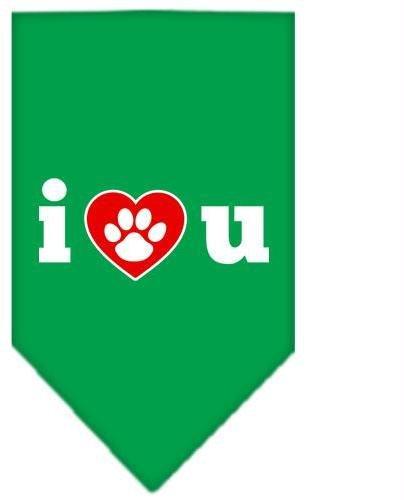 I Love U Screen Print Bandana Emerald Green Small Case Pack 24 I Love U Scree... by DSD