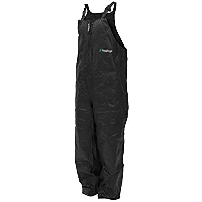 Frogg Toggs Men's Pro Advantage Bibs, Black, XX-Large by Frogg Toggs