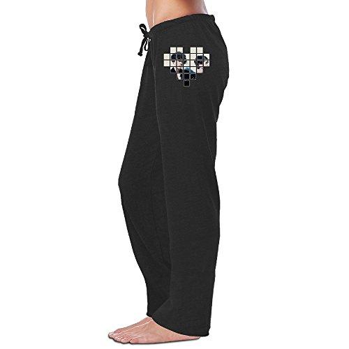 Wesley Tegan Boyfriend Sara Women's Soft Sweatpants Black L