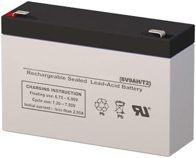 CP665E-F2 6 Volt 9 AmpH SLA Replacement Battery with F2 Terminal