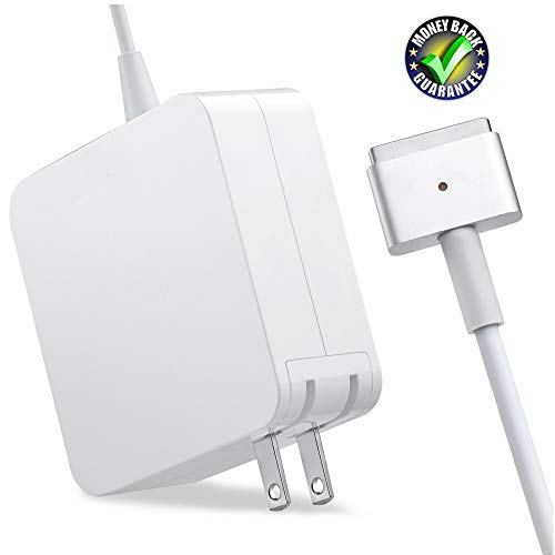 SorsnA Charger,Replacement for MacBook Air Charger with 11Inch 13 Inch Display After Mid 2012 Ac 45W Magsafe 2 Power Adapter T-tip Connector (Apple Macbook A1465)