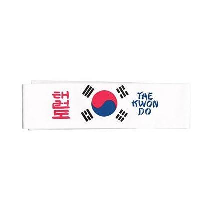Amazon.com  Tiger Claw Korean Flag Taekwondo Headband  Sports   Outdoors df40b030d59