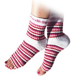 Pedi Sox Pink Stripe 1 pair