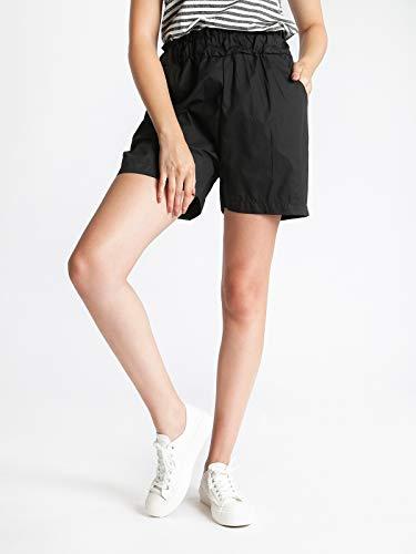 alta Nero in a cotone Shorts vita AXSEwn6x