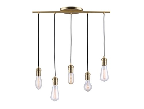 "Canarm 5-Light Brass Chandelier - Add a sophisticated look to your decor with this canarm chandelier Uses 5 60 w bulbs 28"" W x 4 1/4 - 52 1/4"" H - kitchen-dining-room-decor, kitchen-dining-room, chandeliers-lighting - 31KGuC8DkML -"