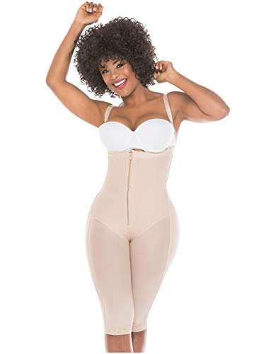 (Salome 0515 Full Body Shaper Liposuction Compression Garments After Surgery Fajas Colombianas Postparto Reductoras y Moldeadoras para Mujer Beige S)