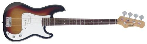 (Stagg P250-SB Standard P Bass 4-String Electric Bass Guitar - Sunburst)