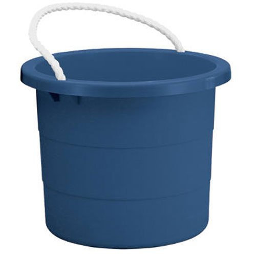 (United Solutions TU0006 Blue Five Gallon Rough and Rugged Rope Handled Tub - 5 Gallon Plastic Tub with Rope Handles in Blue)