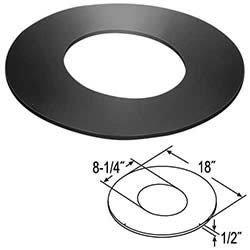 M G Duravent 6DT-RSTC12 6 Inch Dura Vent Duratech Roof Support Trim Collar Black 10/12-12/12 - Inch Dura 6 Vent Trim