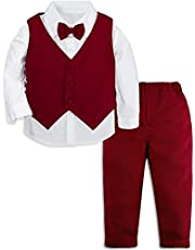 MOMBEBE COSLAND Baby Boy Suits Formal Outfit with Bow Tie