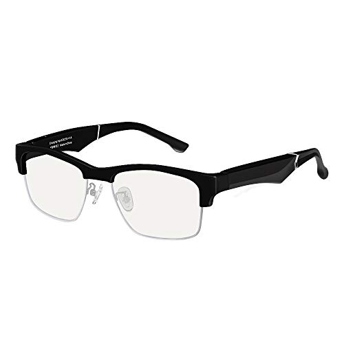 B&H-ERX Smart Glasses Wireless Bluetooth Hands-Free Calling Music Audio Open Ear Anti-Blue Light Lenses Intelligent Sunglasses,D