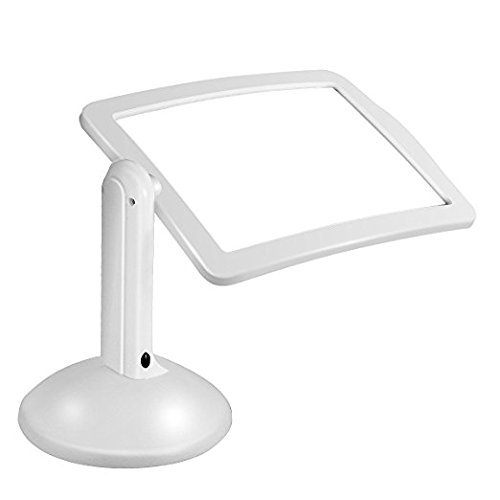 Lovefir Hands-free Cordless Desktop 3X Full-Page LED Illuminated Magnifier with Stand for Reading, Inspection, Tinkering, Soldering, Crafts, Needlework, Hobbies and - Eco Glasses Friendly Frames