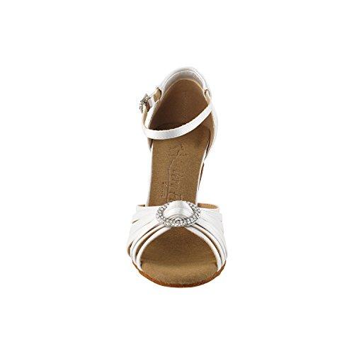 Scarpe Piccione Oro Scarpe Da Festa Festaioli, Scarpe Da Sera Eleganti: Scarpe Da Ballo Donna Con Tacco Da Ballo 1671 - Raso Avorio