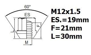 FIATFREE Serrure de blocage des roues M12x1,5 alliages anti-vol HA