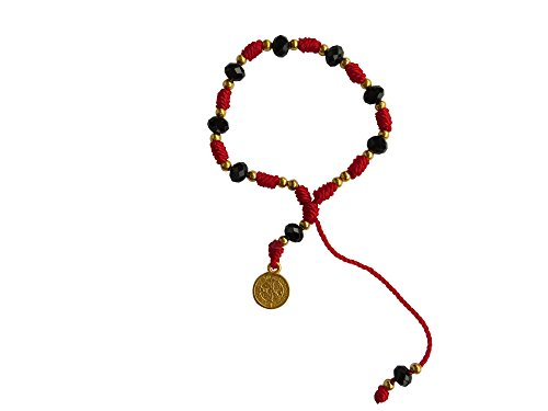 Red Thread with Cristal Beads Saint Benedict Bracelet Pulsera De San Benito