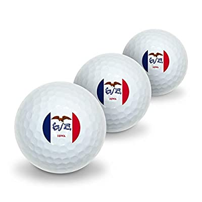 GRAPHICS & MORE Iowa State Flag Novelty Golf Balls 3 Pack