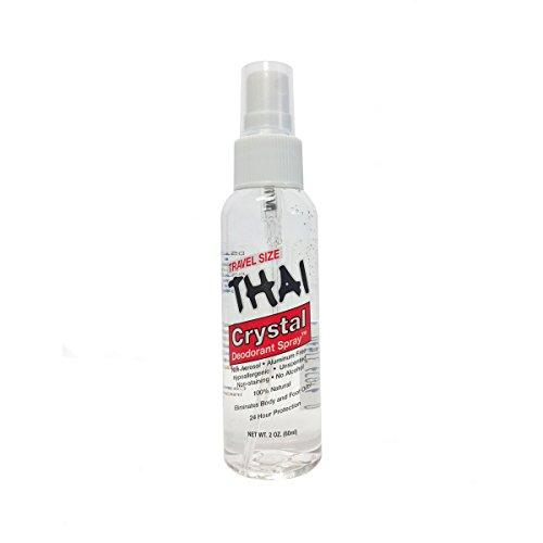 - THAI Travel Sized Crystal Mist Deodorant Body Spray, Unscented, 2 Fluid Ounce