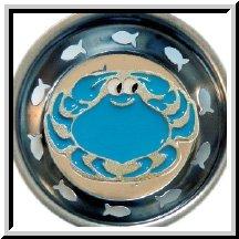 Enamel Kitchen Strainer Blue Crab ()