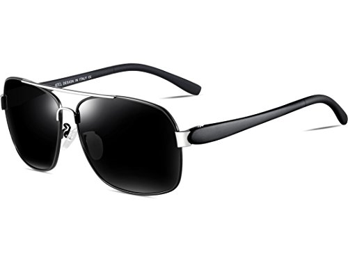 Metal Negro Ligero Sol Marco Hombre Uv400 Polarizado De De ATTCL Rectangulares Súper Gafas 7HnWw1R