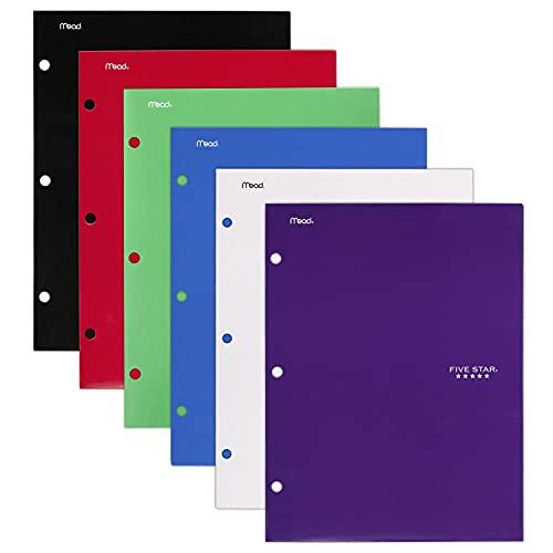 Five Star 4 Pocket Folders, 2 Pocket Folders Plus 2