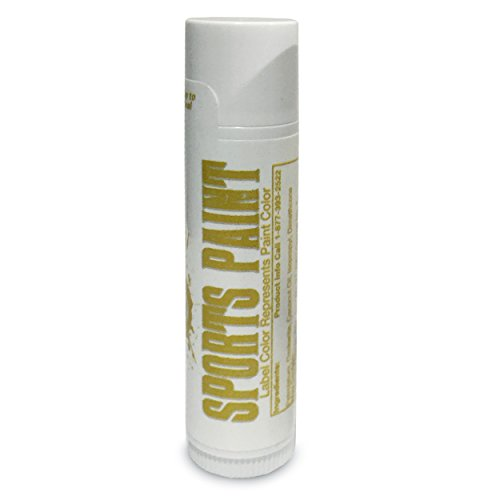 Elite Choice Gold Metallic Eye Black Sports Paint - Softball Eye Black Stick - Sports Eye Paint for Mardi Gras, Kids, Athletes, Cheerleading, Football, Baseball and Field Hockey - Made In America (Football Under Eye)