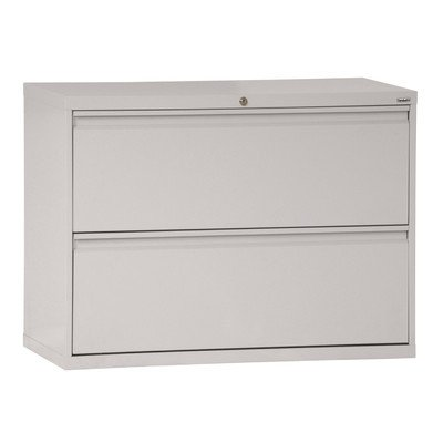 Sandusky Lee LF8F422-05 800 Series 2 Drawer Lateral File Cabinet, 19.25'' Depth x 28.375'' Height x 42'' Width, Dove Gray by Sandusky