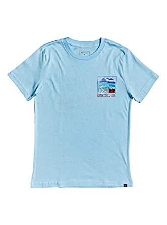 Quiksilver Boys AQBZT03570 Raw Angel Boys Tee Short Sleeve Shirt - Blue - L/14
