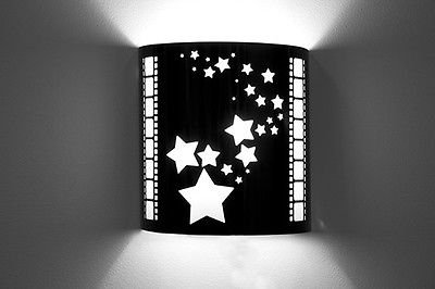 Various Home Theater Sconce Wall Lighting - Cinema Movie Style Wall Sconces - Home Theatre Design Sconce Images - USA - Laser Cut - New (Stars)