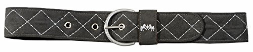 Equine Couture Diamond Quilted Suede Belt with Diagonal Line