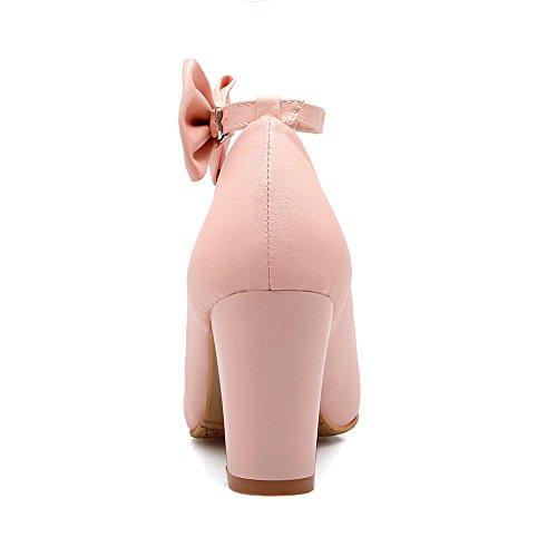 Korkokengät Kengät Stiletto Rusetti Strappy Alustan Pinkki Pumput Aiweiyi Naisten TwqC0AY