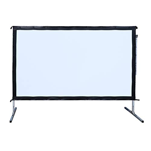 Outdoor Indoor Projector Screen with Stand, 144 inch HD Foldable Portable Projector Screen, 8K 4K 3D 16:9 Projection Movie Screen for Home Theater Camping Recreational Events, Waterproof, Anti-Crease by Stamo (Image #5)