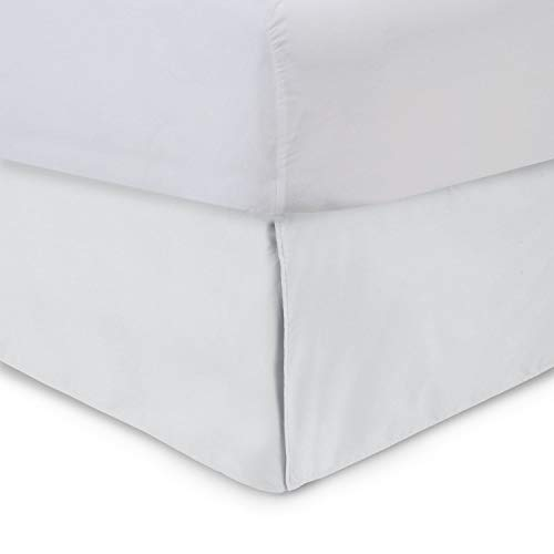Harmony Lane Tailored Bedskirt - 14 inch Drop, Full, White Bed Skirt with Split Corners (Available in and 16 Colors)