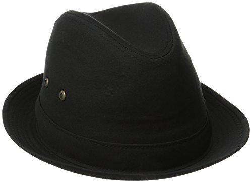 Stetson Men's Fedora Linen Hat, Black, X-Large