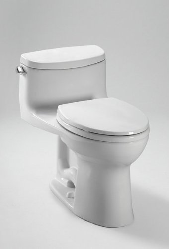 Toto MS634114CEFG#01 Supreme-2 One-Piece High-Efficiency Toilet with SanaGloss, 1.28GPF, Cotton
