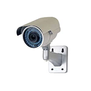 "VideoSecu 1/3"" Pixim DPS Sensor WDR Zoom Infrared OSD CCTV Outdoor Security Camera 690TVL Day Night IR Cut Filter 48 IR Infrared Leds 6-15mm Vari-focal Lens with Power Supply, Cable AN7"