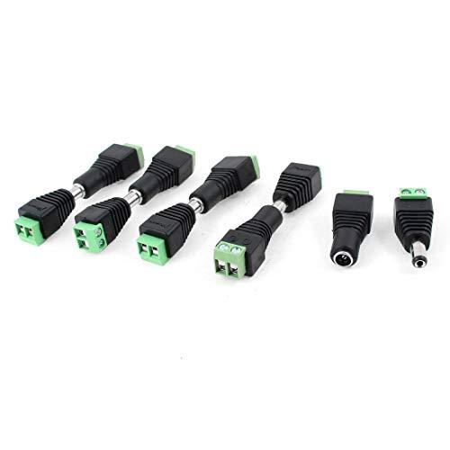 (BIN BON - Wholesale 10 Pcs CCTV Cameras 2.1mm x 5.5mm Female Male DC Power Plug Adapter)