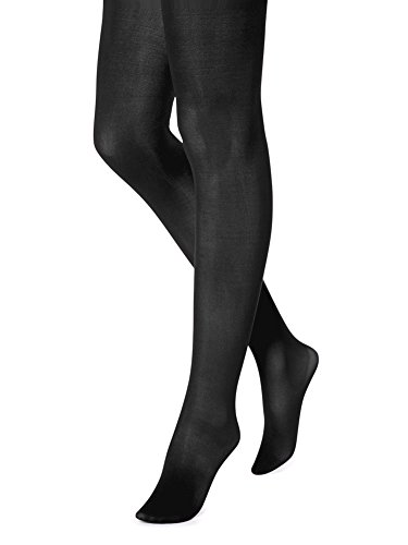 Hue Sheer to Waist Opaque Tight (1, Black) ()