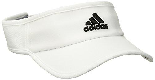 adidas Mens Adizero II Visor, White/Black, One Size