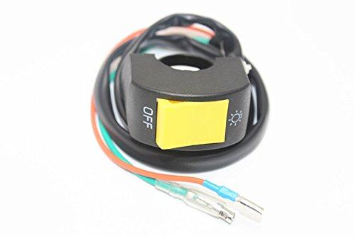 Motorcycle ATV Bike 7//8 Handlebar Headlight LED Spot Light Lamp Kill Switch Pack of 1