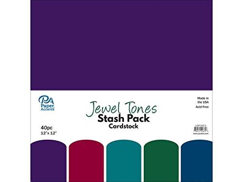 Paper Accents 40pc Stash Pack 12x12 Jewel Tones ()