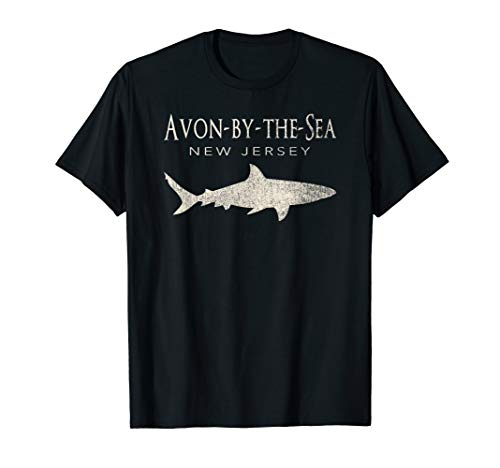 -  Retro Avon-by-the-Sea NJ Shark T-Shirt