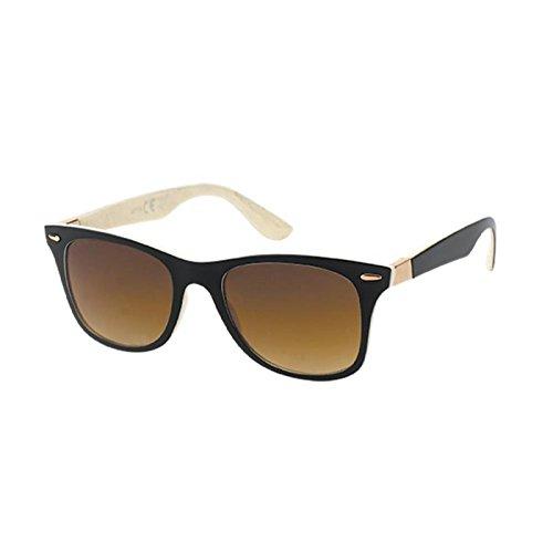 Chic-Net Gafas de sol Wayfarer 400 UV bicolor con dibujos ...