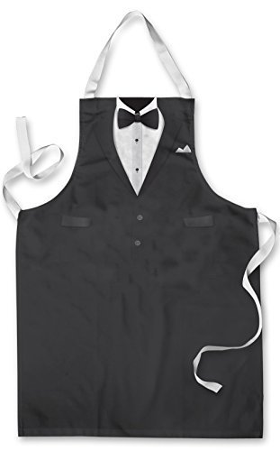 Ls prints tuxedo design apron kitchen bbq cooking painting made in yorkshire fathers day