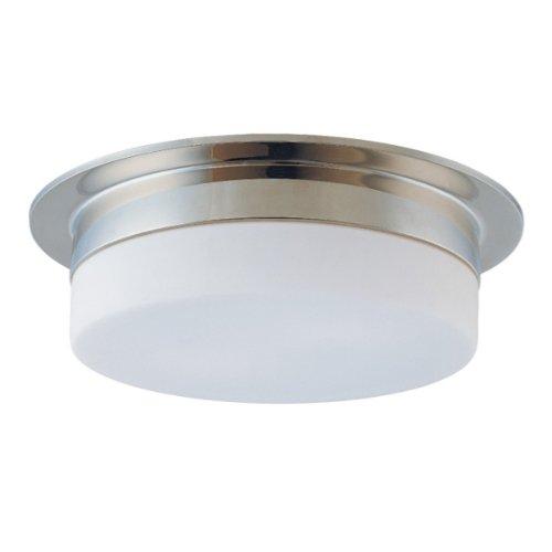 (Sonneman 3743.35, Flange Round Tall Flush Mount Ceiling Lighting, 3 Light, Polished Nickel)