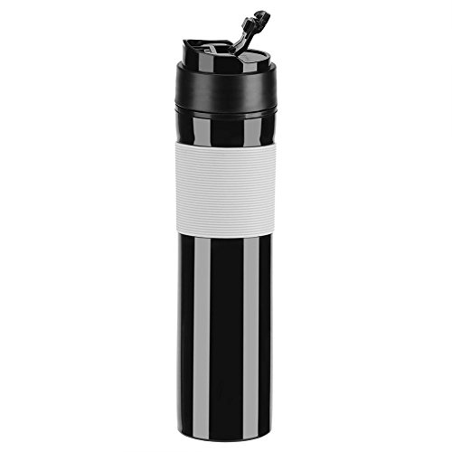 Portable Mini Espresso Maker Hand Held Pressure Caffe Espresso Machine Compact Manual Coffee Maker for Home Office Travel Outdoor(Black) by Fdit (Image #3)
