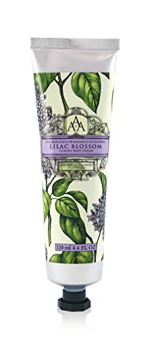 AAA Floral - Luxury Body Cream, Enriched with Shea Butter - 130 ml / 4.4 fl oz (Lilac Blossom) (Lilac Hand Lotion)