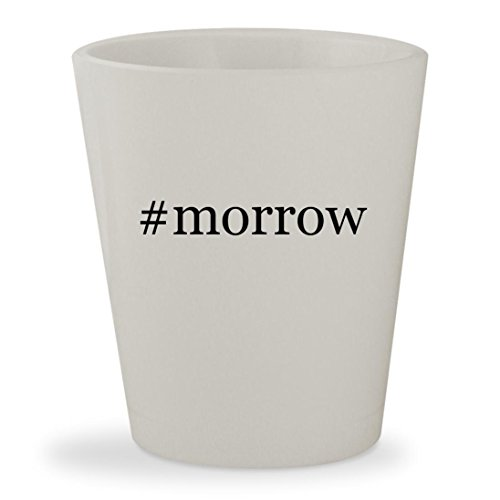 #morrow - White Hashtag Ceramic 1.5oz Shot Glass