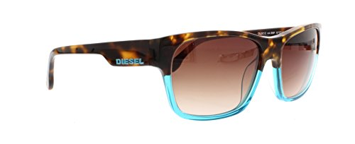 Diesel Unisex DL0012 Acetate Sunglasses BLUE 57