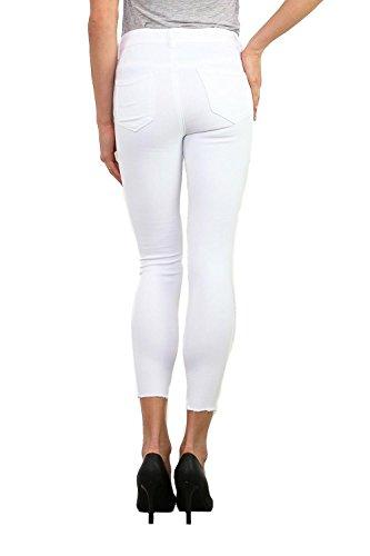Mujer Roto Blanco DCE Dama Rodillas de Vaqueros MODA L LEMON Jeans TREE nq8xaaXU